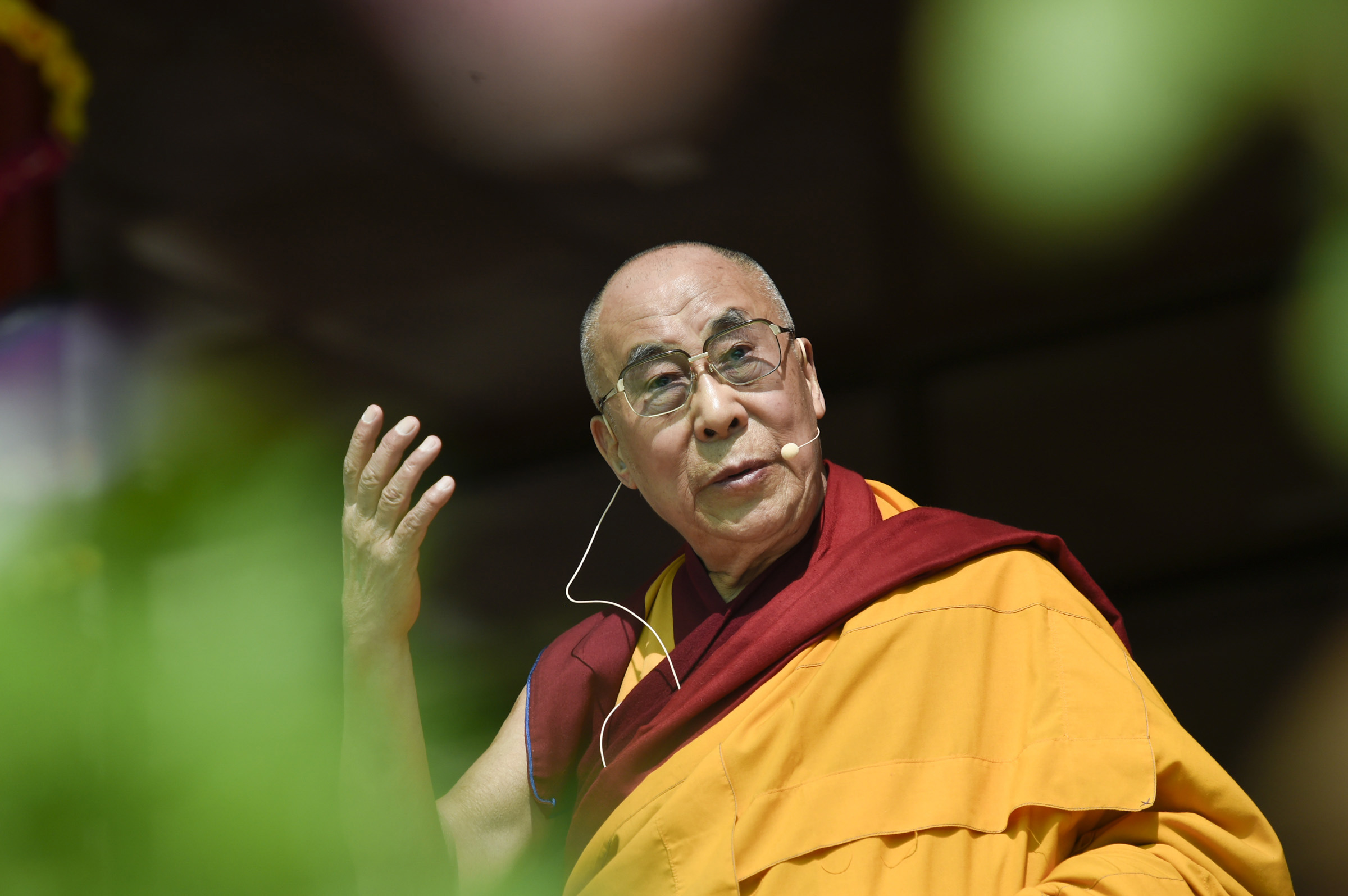 Kalachakra crowd greets Dalai Lama on his 79th birthday