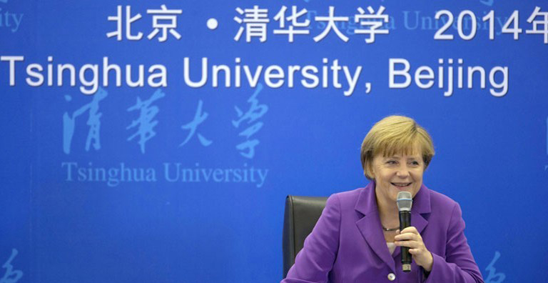 angela-merkel speaking in China