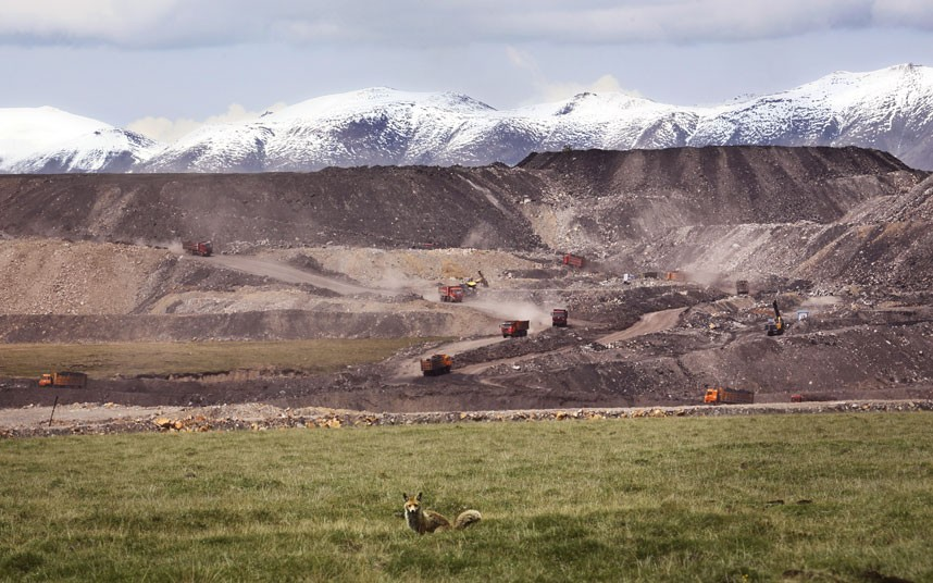 Despite tough new environmental protection laws, Beijing seems to be unable to stop the expansion of massive Muli coal mine into the Tibetan plateau in Qinghai, according to Greenpeace.  Picture: Wu Haitao/Greenpeace