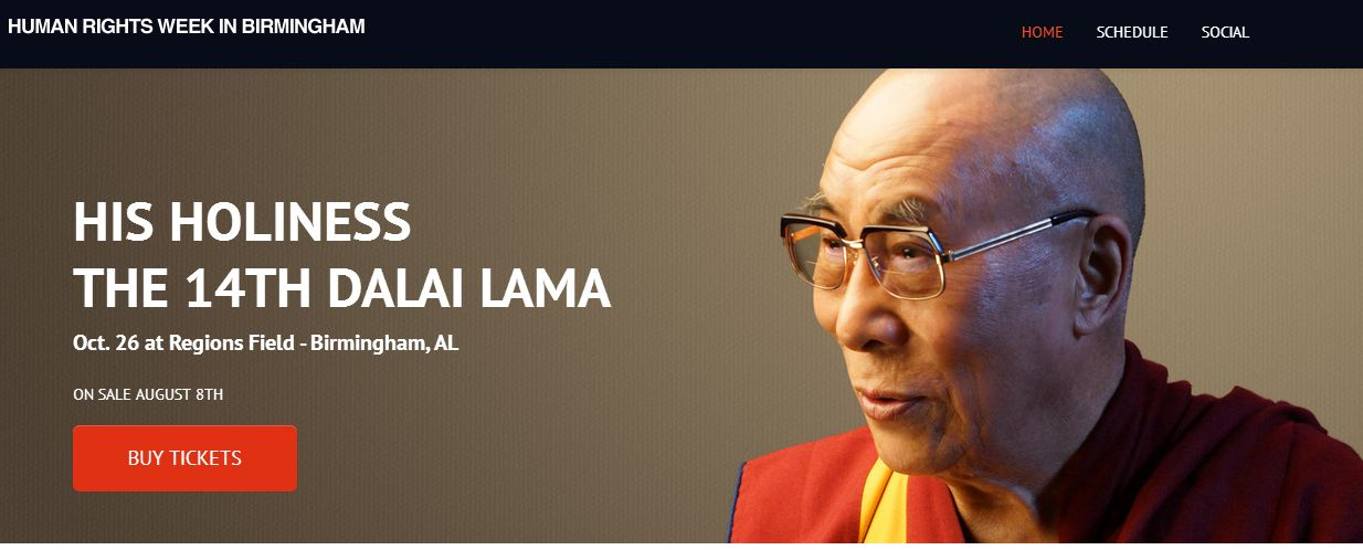 Dalai Lama to be highlight of human rights week in US city