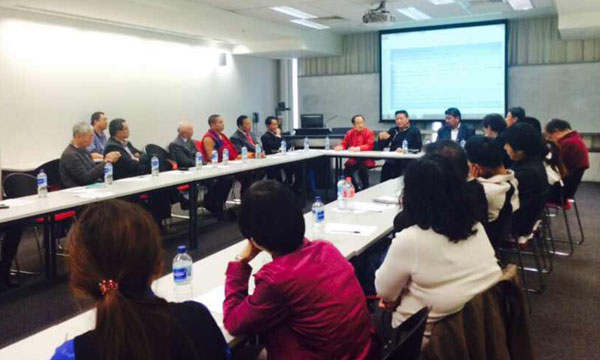 The Tibetan Parliamentary delegation during a meeting with members of Chinese community and Tibet Support Groups in Sydney, Australia, on 24 August 2014. (Photo Courtesy: Tibet.net)