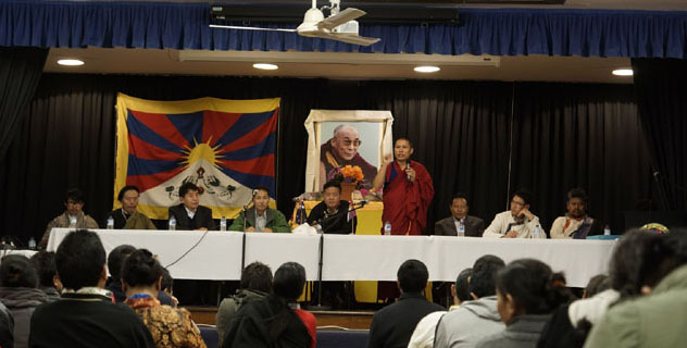 The Tibetan Parliamentary delegation during a public talk in Sydney, Australia, on 23 August 2014. (Photo courtesy: Tibet.net)