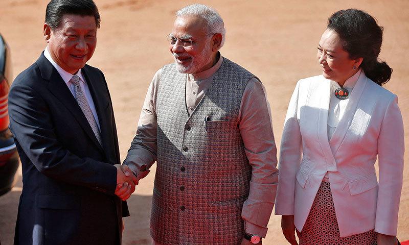 Xi Jinping and Modi 1