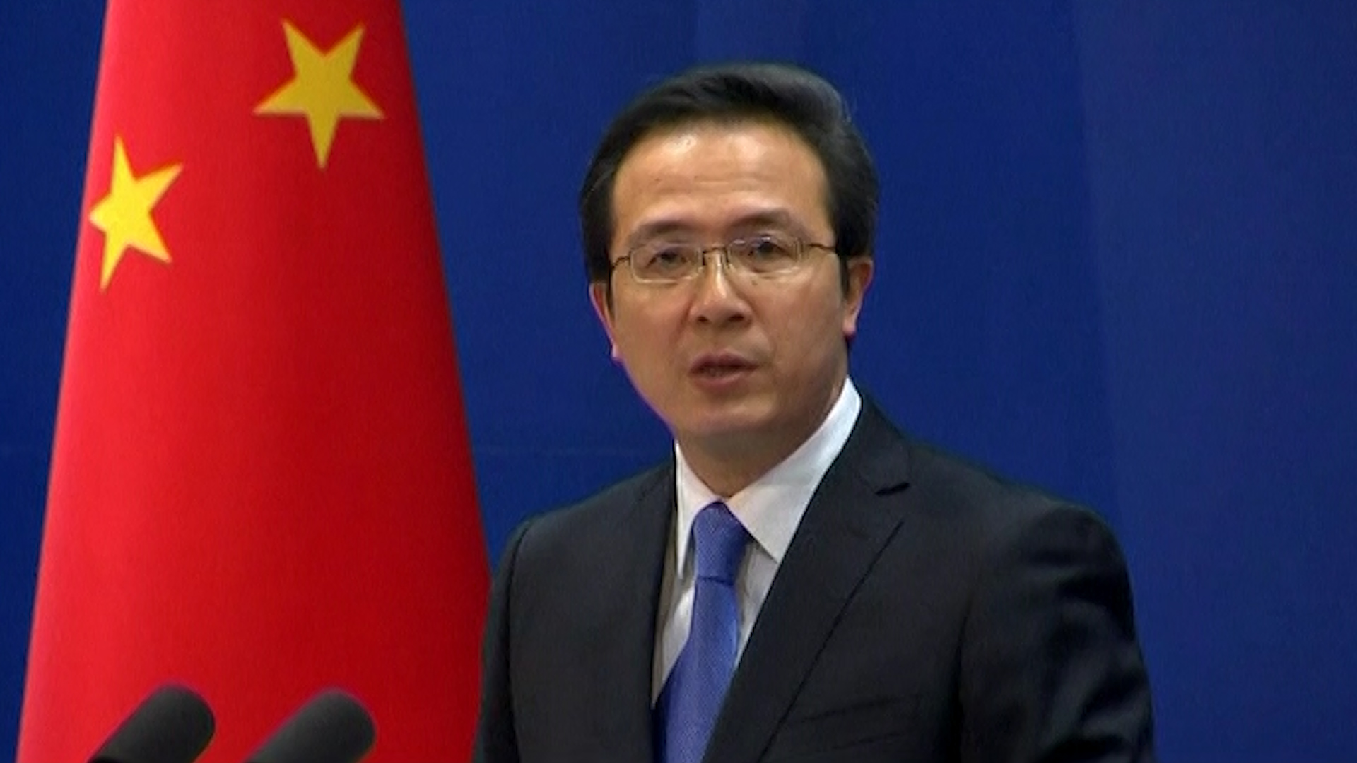 China's foreign ministry spokesman Hong Lei.