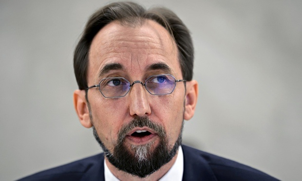 UN High Commissioner for Human Rights Mr Zeid Ra'ad al-Hussein.