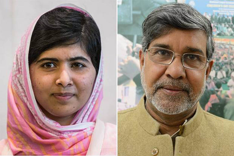 2014 Nobel Peace laureates: Malala Yousafzai & Kailash Satyarthi.