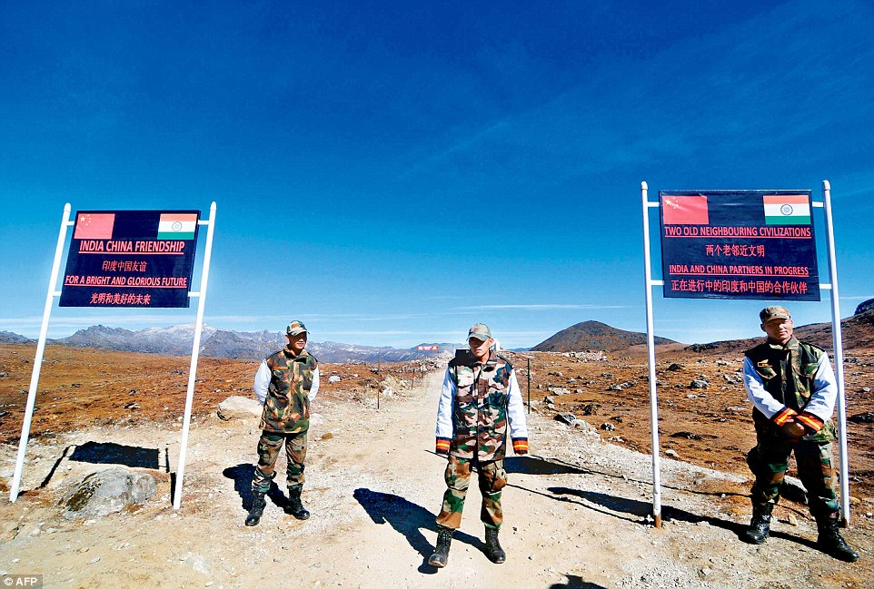 Indian Army personnel keep vigil at the India-China border in Arunachal Pradesh.