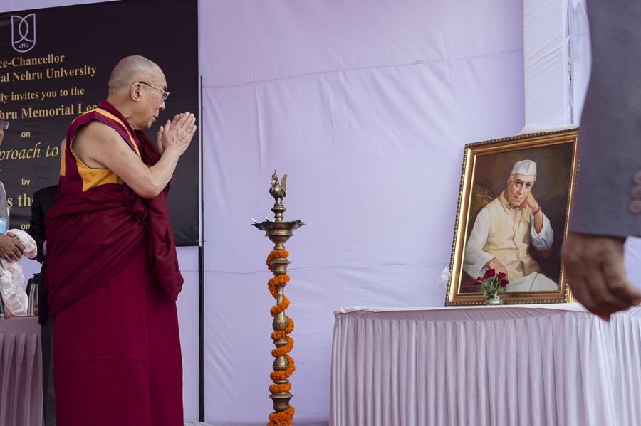 Dalai Lama delivers Nehru Memorial Lecture at JNU