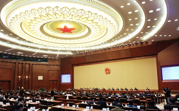 Chinese legislators have passed an amendment to the Administrative Procedure Law, making it easier for citizens to exercise their right to sue the government. Photo: A separate meeting of the Standing Committee of China's National People's Congress (NPC) held earlier this year.