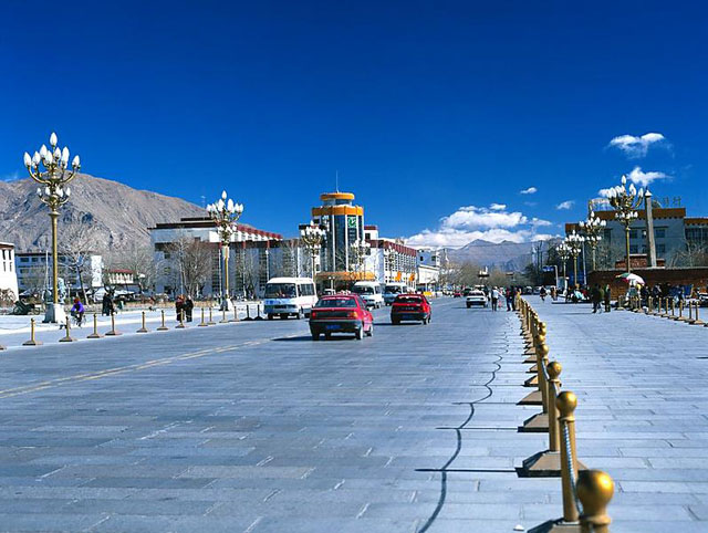 Shigatse, the second city of Tibet.