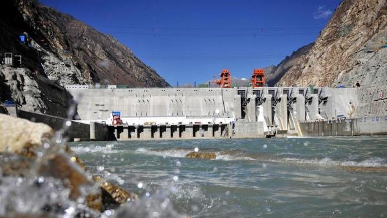 Zangmu Hydropower Station, Tibet's biggest ever hydropower project, stands more than 3,300 metres above sea level.