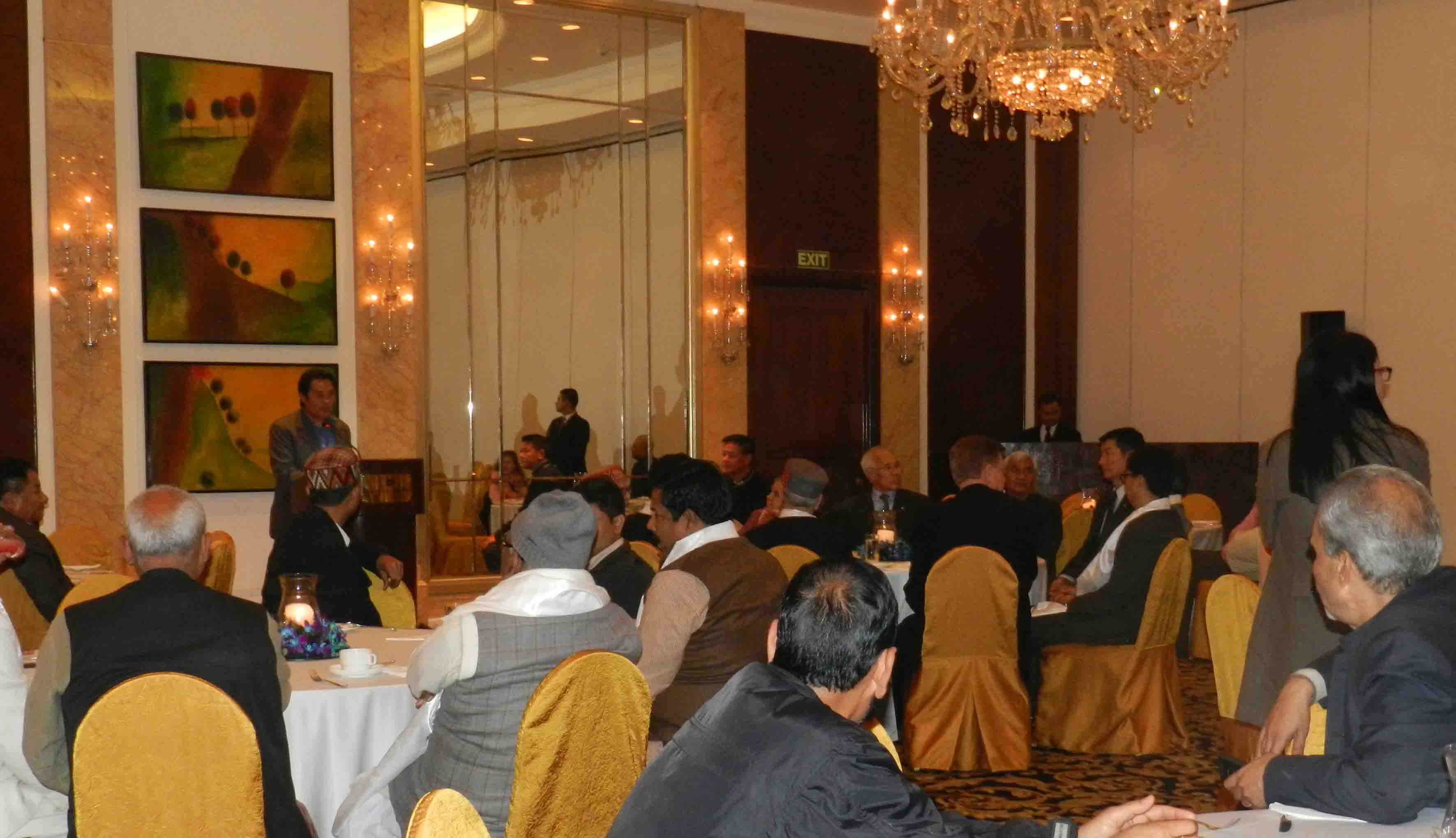 Dinner reception hosted on Dec 15, 2014 at the Shangri-la Hotel, New Delhi for the revival of the All Party Indian Parliamentary Forum for Tibet (APPFT). It was attended by 30 MPs from 28 major political parties. (Photo courtesy: TPPRC)