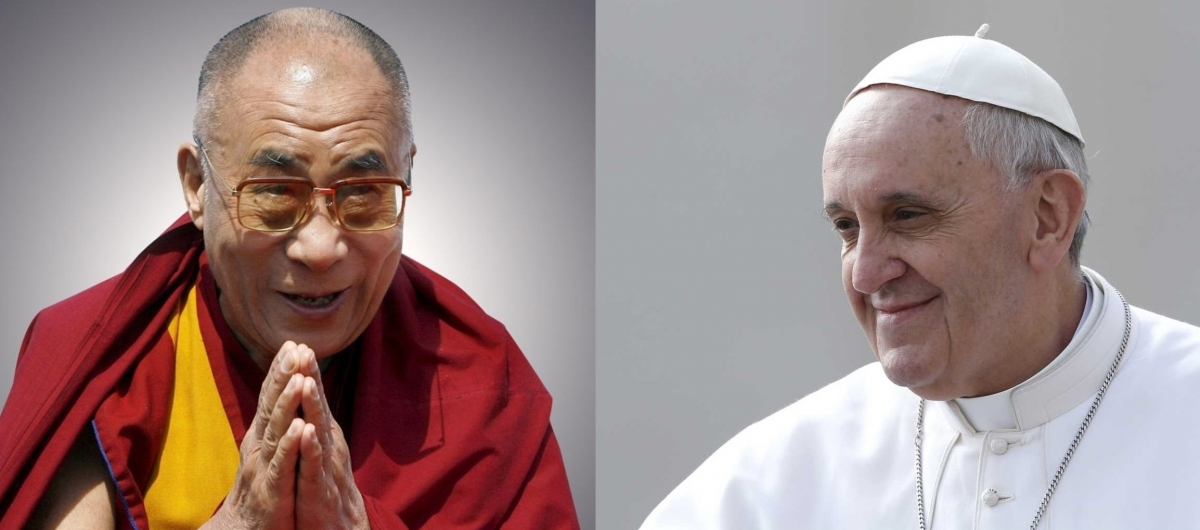 Pope Francis (right) and the Dalai Lama (left), two widely admired religious leaders, are in Rome during the weekend but will not meet. (Photo courtesy: Reuters)