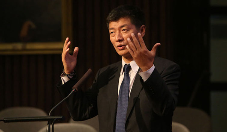Sikyong Lobsang Sangay took part in a three-day India Ideas Conclave at Goa. (Photo courtesy: tibet.net)