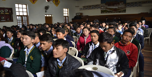 Students participating in the eight-day leadership summit. (Photo courtesy/ Kunsang Gashon/ Phayul.com)