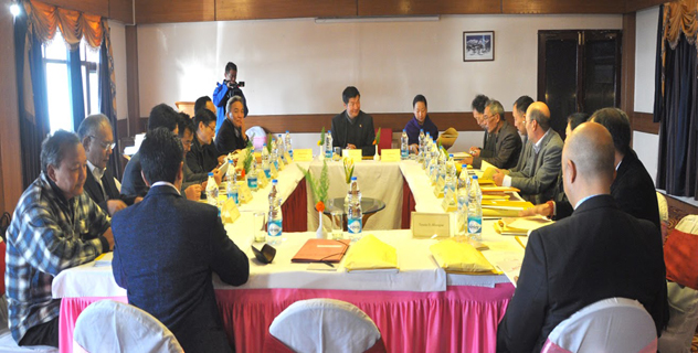Sikyong Dr. Lobsang Sangay presides over the task force meeting on Sino-Tibetan negotiations in Dharamshala on 5 -6 January 2014. (Photo Courtesy/DIIR)