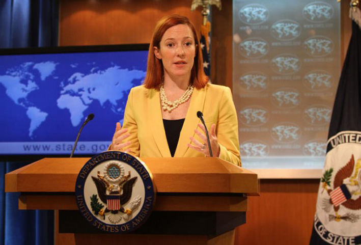 US State Department Spokesperson Ms Jen Psaki.