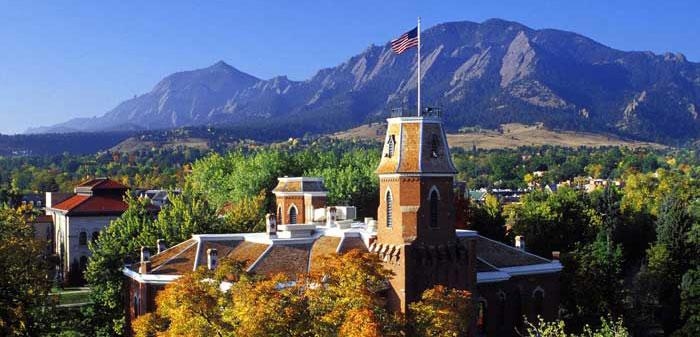 University of Colorado (CU) in the US city of Boulder, Colorado State. (Photo courtesy:  www.colorado.edu)