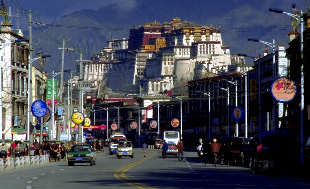 Lhasa, capital city of Tibet.