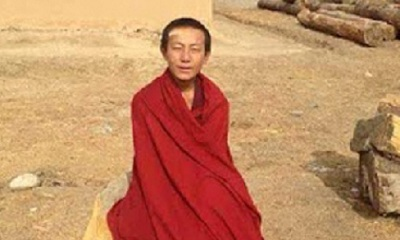 Lobsang Kelsang, a 19-year-old monk, was arrested in Ngaba county, March 17, 2015. (Photo courtesy: RFA)