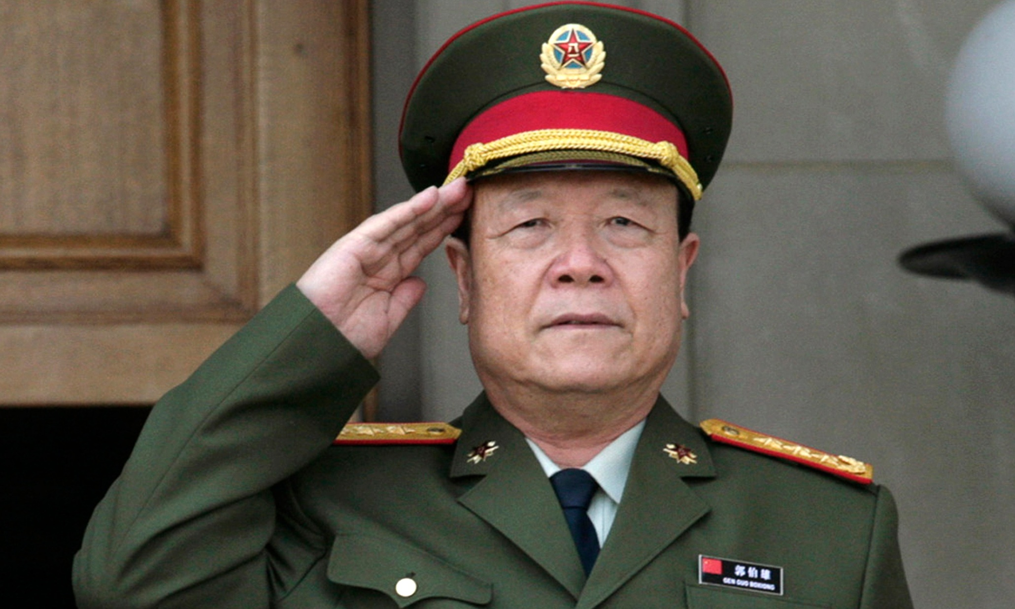 General Guo Boxiong before a meeting at the Pentagon in 2006. (Photo courtesy: Yuri Gripas/Reuters)