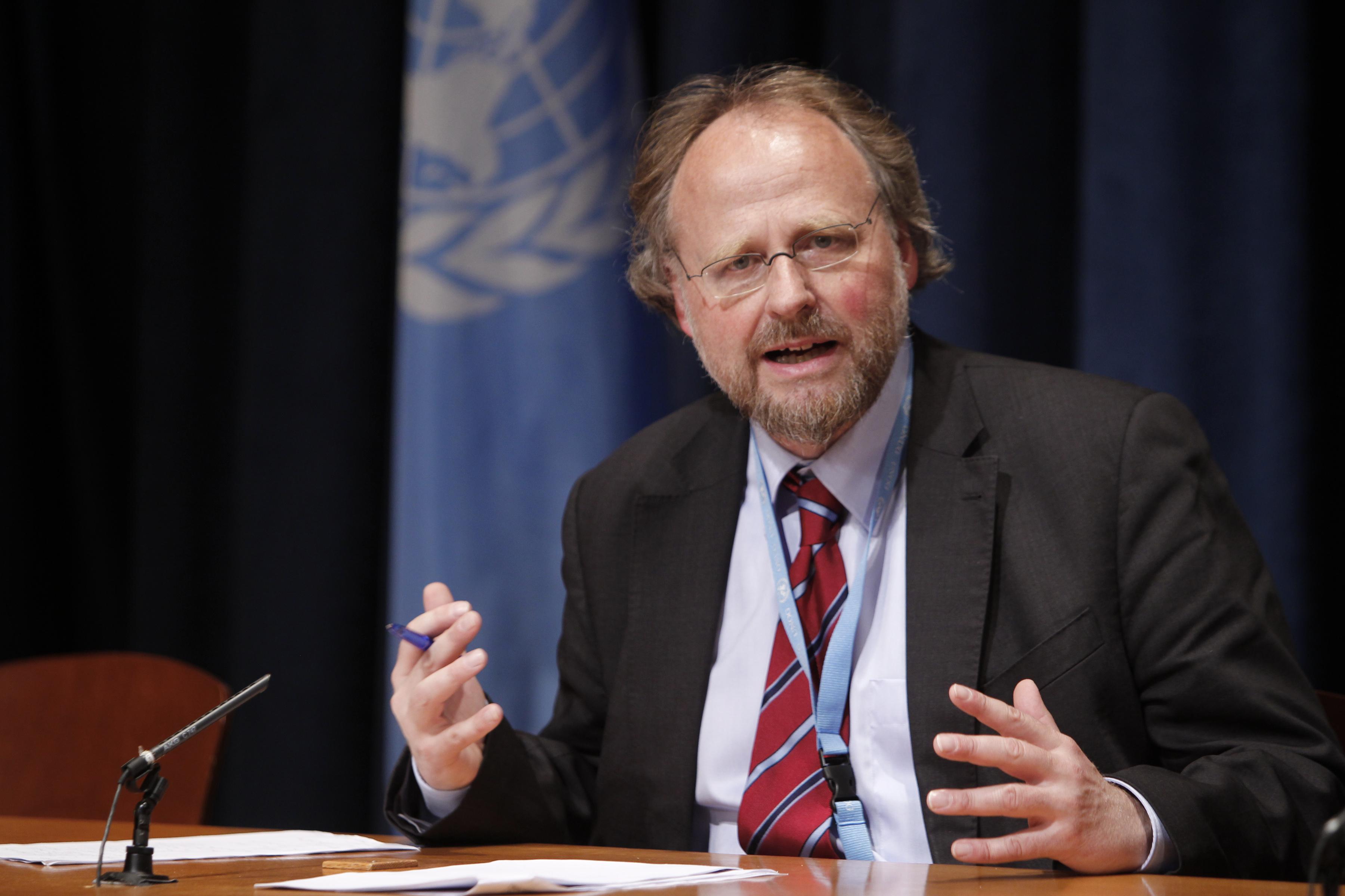 Mr. Heiner Bielefeldt, Special Rapporteur on freedom of religion or belief (Photo courtesy: UN Photo/Paulo Filgueiras)