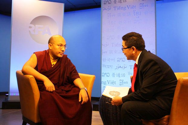 The 17th Karmapa in an RFA interview in Washington, April 15, 2015. (Photo courtesy: RFA)