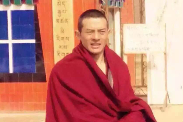 Detained monk and writer Lomig, who goes by the alias Jamyang, in an undated photo. (Photo courtesy: RFA)