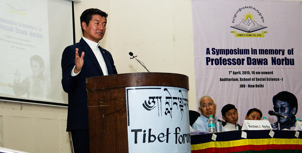A Symposium in honour of Professor Dawa Norbu organised by Tibet Forum JNU in collaboration with Tibetan Review at JNU on April 7, 2015.