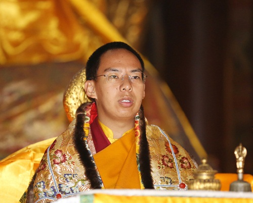 Gyaltsen Norbu, Chinese appointed 11th Panchen Lama. Presided over a dharma assembly in Yonghe Lama Temple in downtown Beijing. (Photo courtesy: Xinhua news agency)