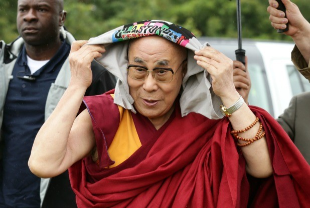 The Dalai Lama arrives at the Glastonbury Festival, at Worthy Farm in Somerset. (Photo courtesy: Yui Mok/PA Wire)