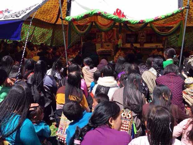 Tibetans celebrate the 80th anniversary of the Dalai Lama's birth year in Amdo province, Tibet, June 21, 2015. (Photo courtesy: RFA)