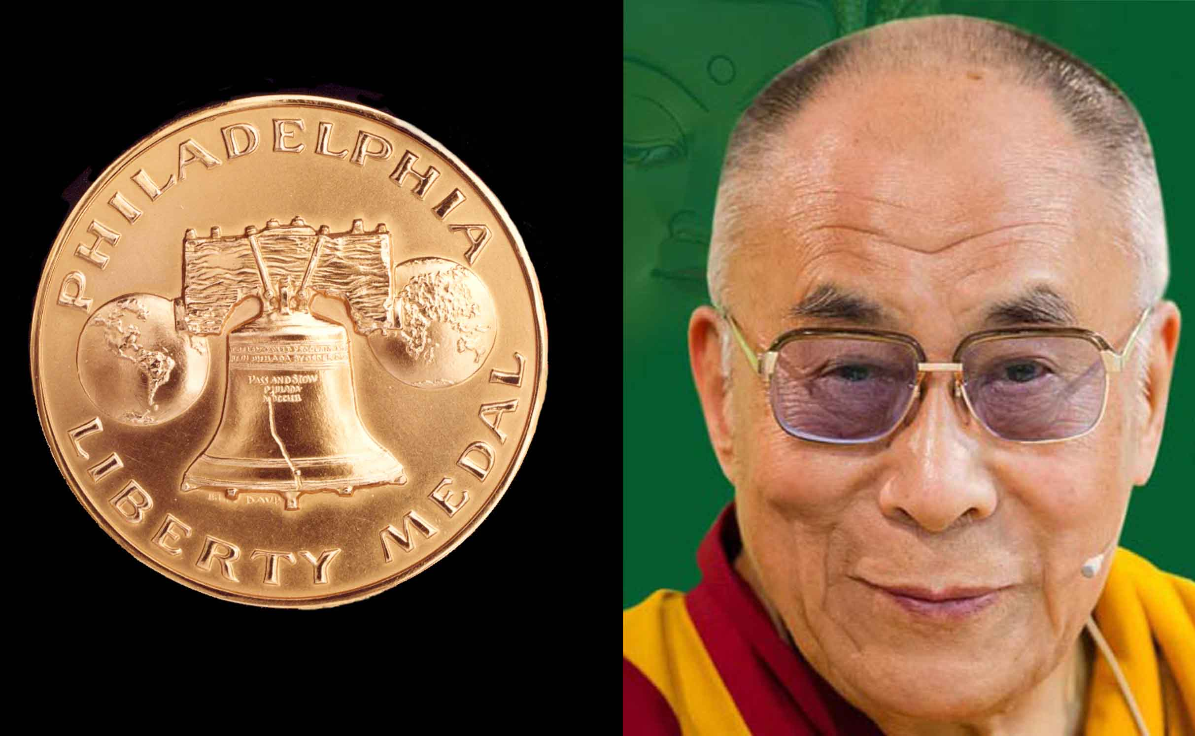 Tibet's exiled spiritual leader, the Dalai Lama, is to be presented the 2015 Liberty Medal of the National Constitution Center, Philadelphia, United States.