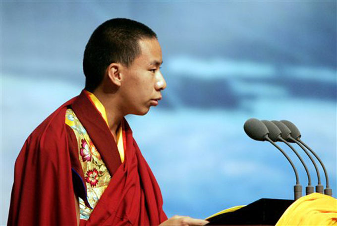 Gyaltsen Norbu, 11th Panchen Lama chosen by Beijing in 1995.
