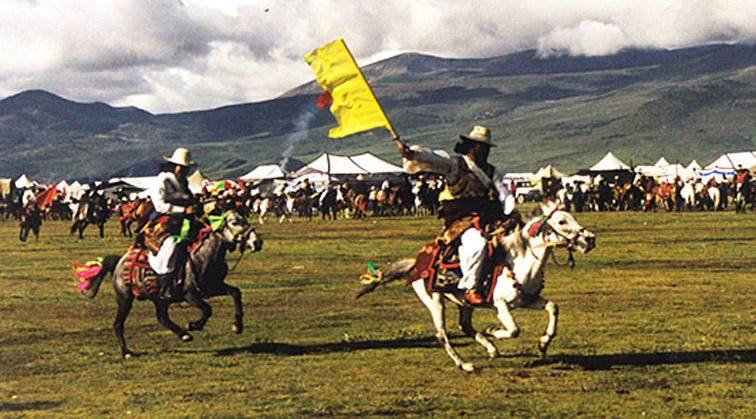 File picture of Horse Racing Festival in Litang, Tibet.