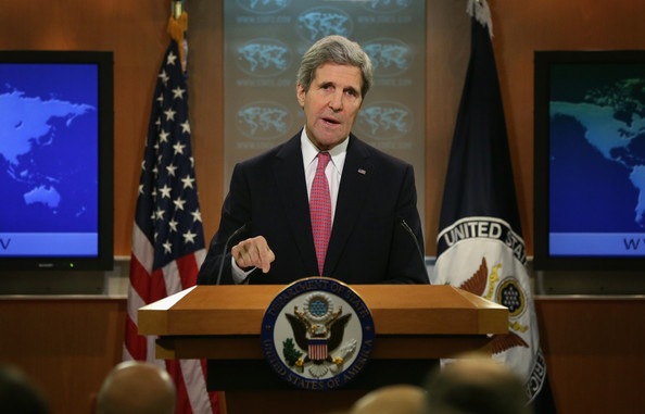 Secretary of State John Kerry speaks at the State Department in Washington to release it's annual human rights reports, June 25, 2015. (Photo courtesy: zimbio.com)