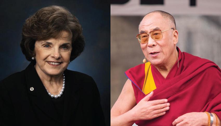 Senator Dianne Feinstein and the Dalai Lama. (Photo courtesy: Jan Michael Ihl/lionsroar.com)