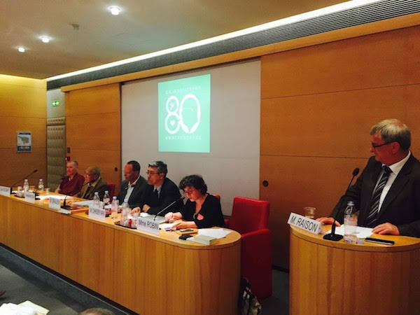 Senator Michel Raison, the President of the Tibet Group in the French Senate welcomed the guest and the panelist. (Photo courtesy: tibet.net)