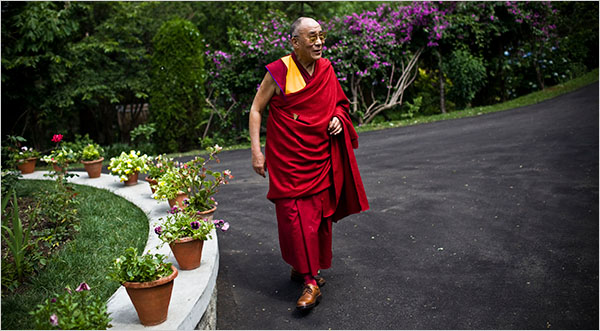 His Holiness the Dalai Lama in his residence in Dharamsala. (Photo courtesy: Shiho Fukada/The New York Times)