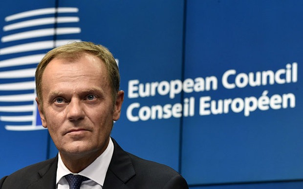 European Council President Donald Tusk of Poland