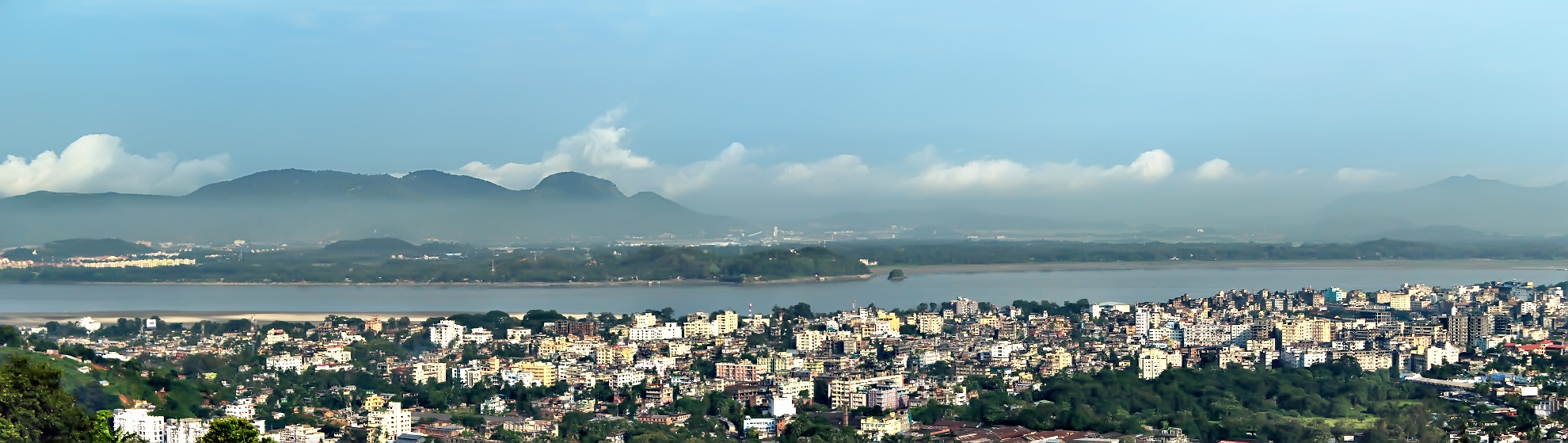 Panoramic view of Guwahati, Assam, India.