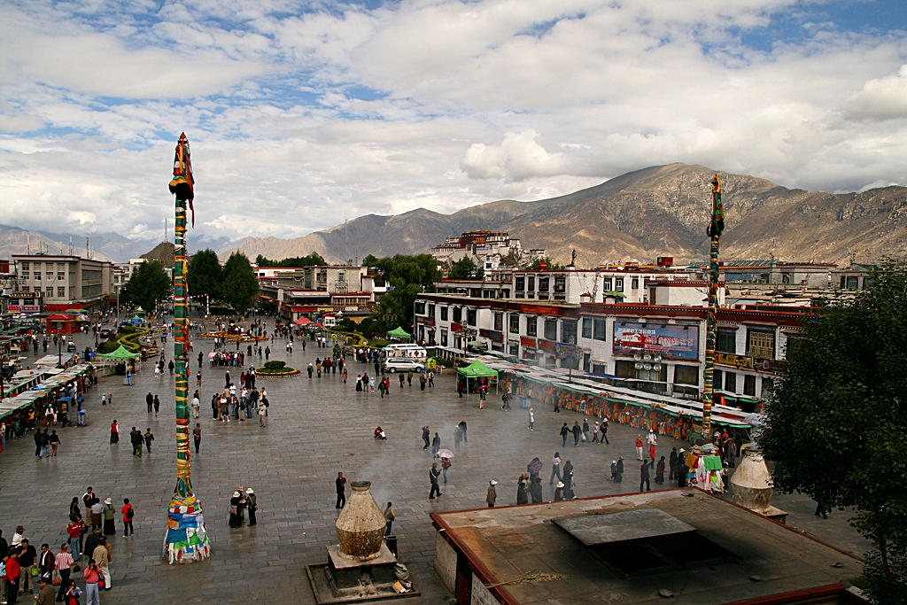 View of Lhasa from Jokhang Temple.