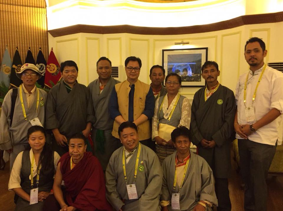 The Tibetan Youth Congress (TYC), a grassroots Tibetan organization met with Kiren Rijiju, Union Minister of State for Home Affairs of India. (Photo courtesy: TYC)
