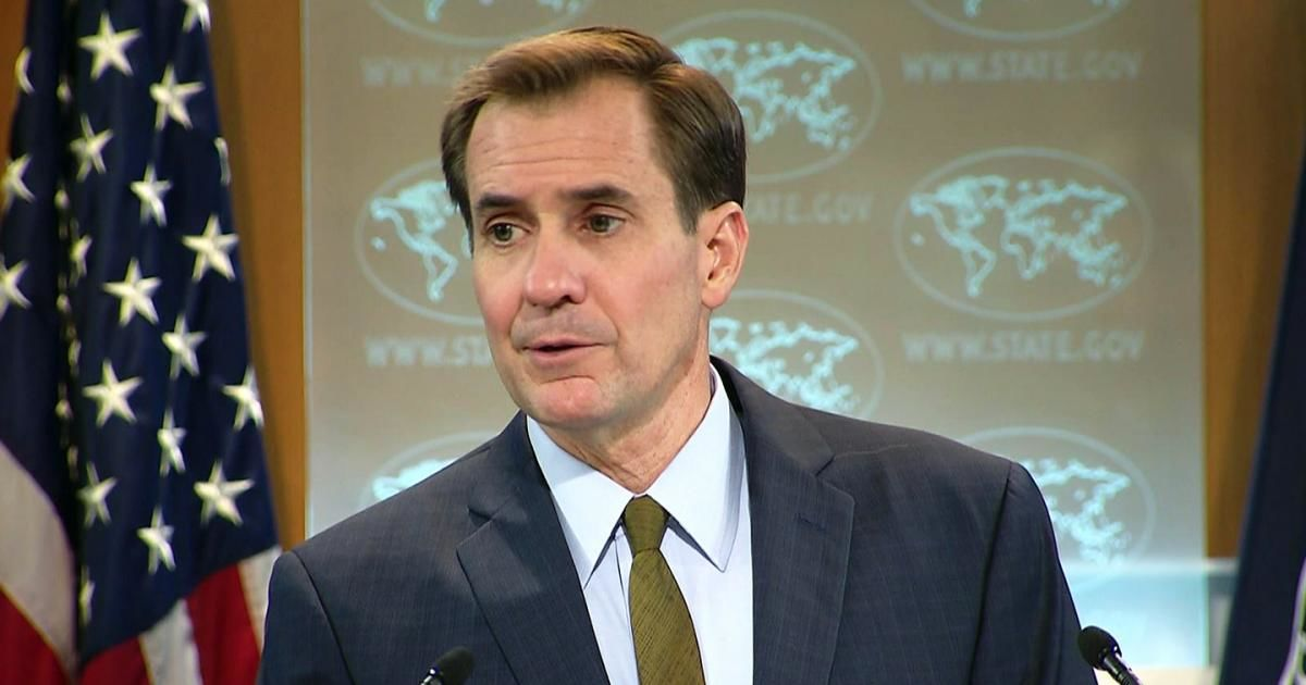State Department spokesperson John Kirby .