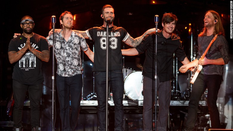 Popular American pop-rock band Maroon 5
