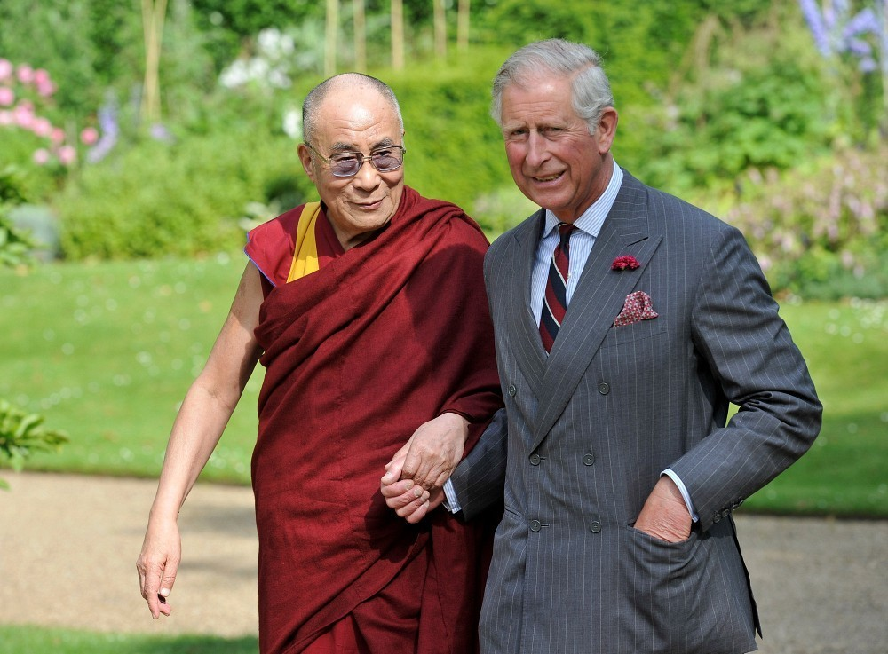 His Holiness the Dalai Lama meets Prince Charles, Prince of Wales at Clarence House on June 20, 2012 in London, U.K. (Photo courtesy: zimbio.com)