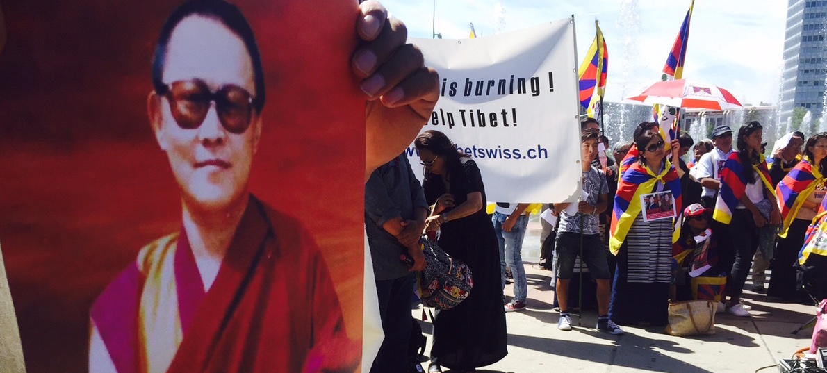 Some 200 Tibetans from across Switzerland and Liechtenstein staged a protest rally in front of the United Nations building in Geneva.