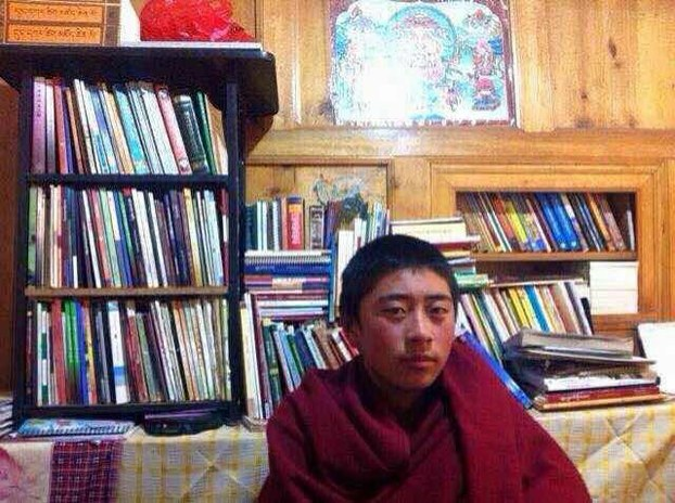 Tibetan monk Lobsang Kelsang is shown in an undated photo. (Photo courtesy: RFA)