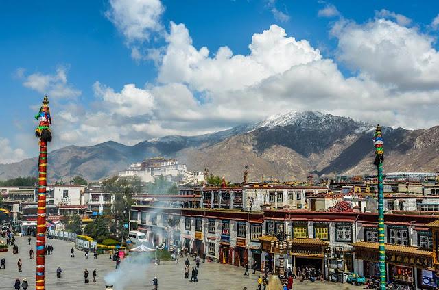 Lhasa, capital of Tibet.