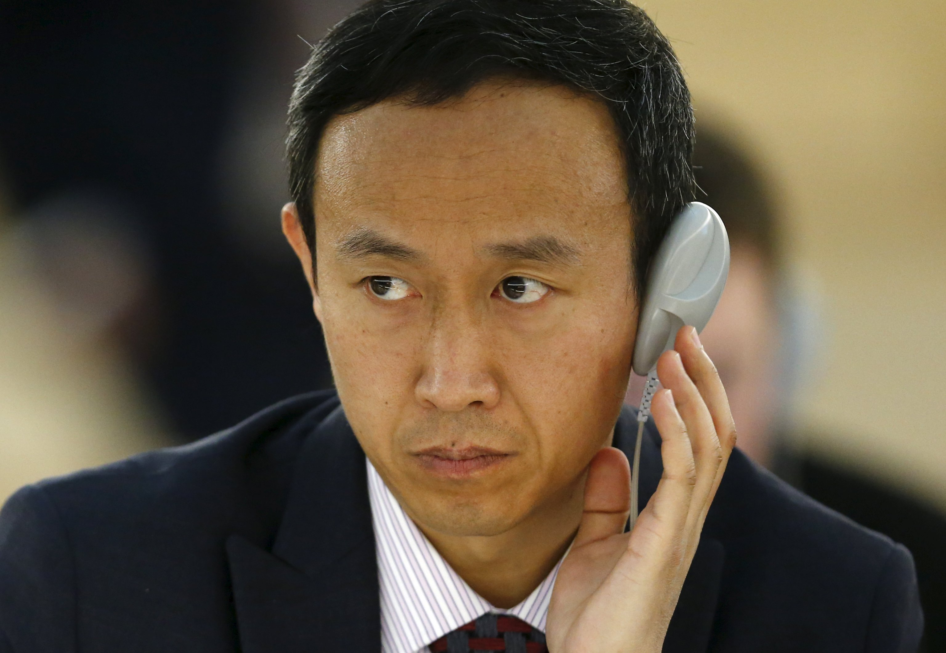 Chinese diplomat Zhang Yaojun, shown here in March, was accused of taking an unauthorized photo of Tibetan dissident Golog Jigme at the U.N. Human Rights Council building in Geneva. Zhang said he was taking a panoramic shot of the space. (Photo courtesy: REUTERS)